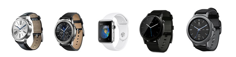 huawei watch vs Gear S3 vs Apple watch vs Moto 360 2Gen vs LG Watch 2Edition